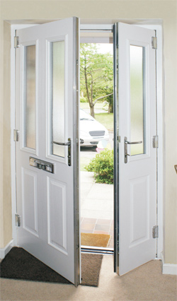 French composite doors the greenest door from the for Upvc offset french doors