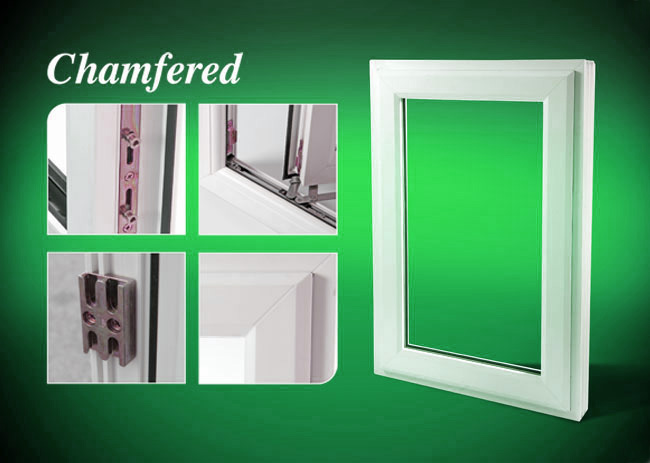 Chamfered A Rated Enegy Efficient Pvcu Double Glazed Windows